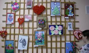 Выставка работ молодых инвалидов